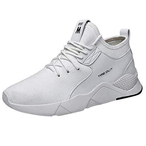 Floweworld Herren Sportschuhe Outdoor Mesh Lässige Basketballschuhe Laufen Atmungsaktive Schuhe Studenten Turnschuhe -