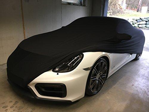 Preisvergleich Produktbild LEDmich Super-Soft Indoor Car Cover Auto Schutz Hülle für Porsche 911/992 / 991/997 Carrera / 996 4s GTS/Turbo Abdeckung Stoff schwarz Abdeckplane
