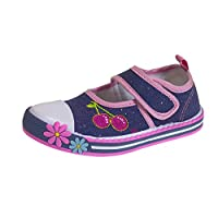 Lora Dora Girls Glitter Canvas Shoes