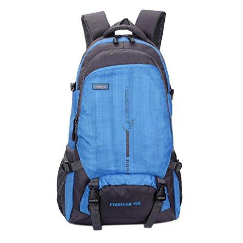 Wmshpeds Zaino versione coreana di studenti svago sacchetto impermeabile marea pacchetto sport outdoor alpinismo borsa da viaggio E