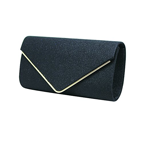 KEENICI, Poschette giorno donna oro Gold Black