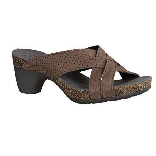 Think Traudi 84574-23- Damenschuhe Pantolette / Zehentrenner, Braun, absatzhöhe: 40 mm