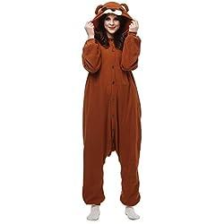 Pijamas Oso Animales Koala Cosplay Enteros Mujer Invierno Novedad Navidad Traje