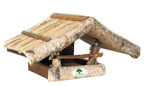 House-Gard 23 Holz-Vogelfutterhaus Birkenhaus aus massivem Holz, 39 cm x 22 cm x 19 cm