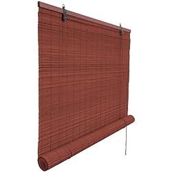 VICTORIA M - Klemmfix Persiana estor de bambú para interiores 70 x 160 cm, color cereza - Montaje sin perforación