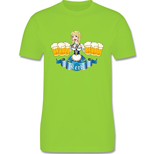 Oktoberfest Herren - Kerb Madl - Herren Premium T-Shirt Hellgrün