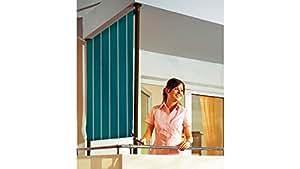 ANGERER FREIZEITMÖBEL Balkonsichtschutz Polyacryl, grün/weiß in 2 Breiten 120 cm