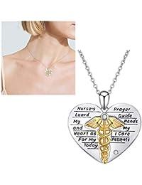 994ea0ad3b12 DDPP 925 joyería de Plata Collar de la Enfermera Hembra Serpiente Palo  corazón Colgante Joyas
