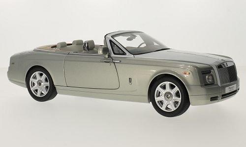 Rolls Royce Phantom Drophead Coupe, metallic-grau/hellblau, 0, Modellauto, Fertigmodell, Kyosho 1:18 - Rolls-royce Phantom Modell