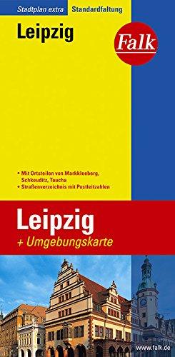 Falk Stadtplan Extra Standardfaltung Leipzig