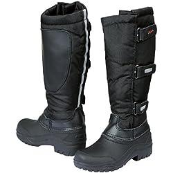 Covalliero Bottes d'équitation thermiques avec chausson amovible Noir Noir 30