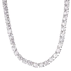 .iced-out. Bling ZIRKONIA Steine 1 Row Kette – Silber 4mm