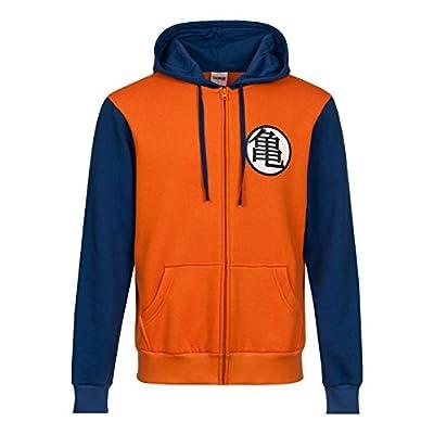 Dragon Ball Z Symbols Sudadera capucha con cremallera naranja/azul L