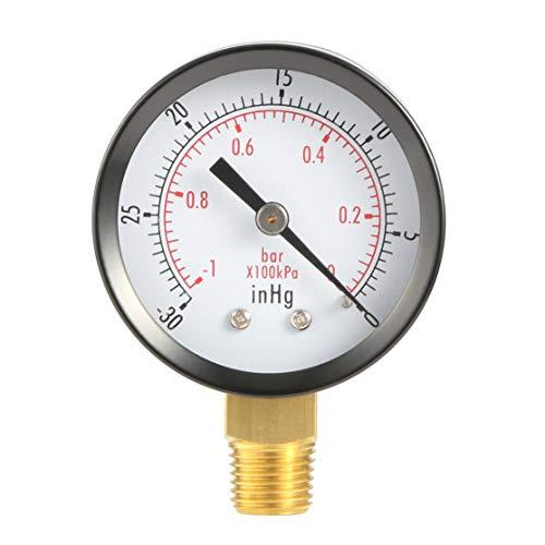 Dry Utility Vakuum Manometer Schwarz Stahl 1/4