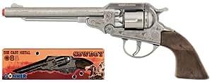 Métal revolver 8-coup anneau capot GONHER coup pistolet revolver fusil mitrailleur collection 88_0 cowboy, fabriqué en Europe.
