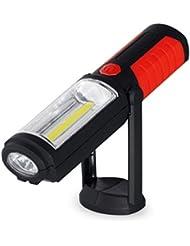 Qiorange Haken Arbeitsleuchte, Portable Freisprechlösung COB LED Magnet Notfall Arbeitsleuchten mit Ständer Anpassung Haken zum Aufhängen und Magnet Basis für Zuhause, Garage, Camping, DIY