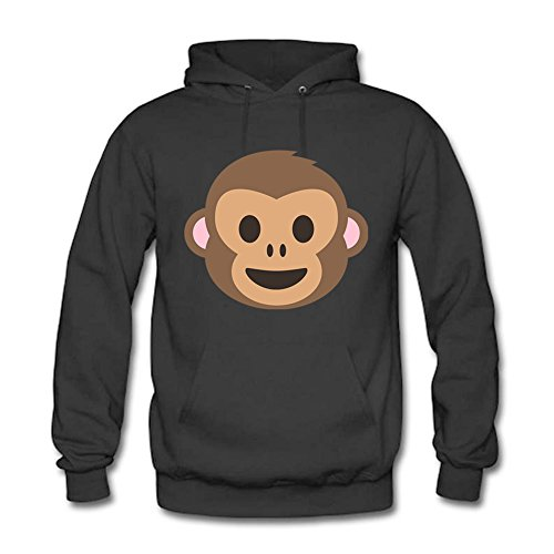 Men Cartoon Cute Monkey Pattern Casual Adult Long-sleeve Cotton Pullover Hooded Sweatshirt 3XL