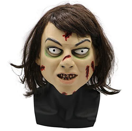 Exorzist Kostüm Maske - Halloween Latex Kopf Maske, Horror Exorzist