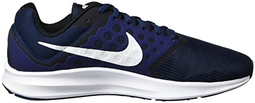Nike Downshifter 7, Chaussures de Course Homme, Red 648 Bleu (Mid Nvy/wht-dk Obsdn-blk)