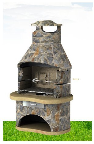 Light Slate Tampere Masonry BBQ - BBQ Grill - Special Offer
