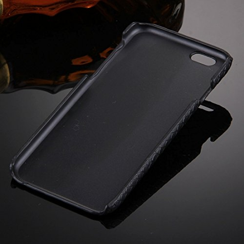 Phone case & Hülle Für iPhone 6 / 6s, Snakeskin Texture Paste Skin PC Schutzhülle mit Löwenkopf Halter ( Color : Black ) Black