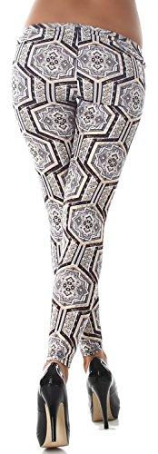 C.F. Damen Leggings lang in verschiedenen Design-Varianten gold grau
