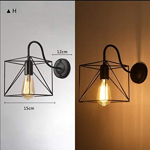 E27 Wandleuchte American Vintage Loft Industrial Iron Cage Light, H ()