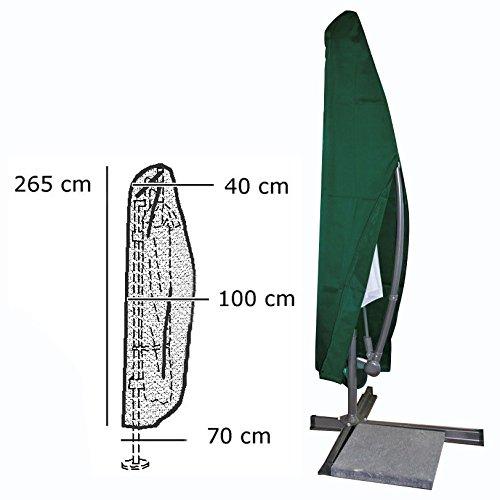 WOLTU GZ1163-a Schutzhülle Abdeckplane Plane Hülle Grün für Sonnenschirm bis 400 cm