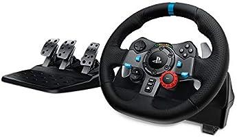 Logitech G29 Driving Force Volant de Course avec Pédales, Retour de Force Réaliste, Palettes au Volant en Acier...