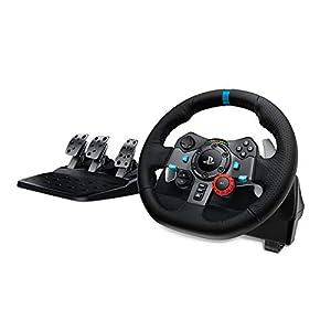 Logitech G29 Driving Force Gaming Rennlenkrad, Zweimotorig Force Feedback, 900° Lenkbereich, Racing Leder-Lenkrad…