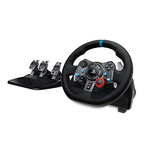 Volante da Corsa e Pedali Logitech Driving Force, per PS4/PS3 e PC, Spina UK