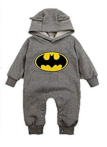 Evrylon tutina neonato batman con cappuccio felpata 90 cm