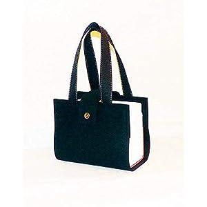 Gesetztasche, Schönfeldertasche, Filz 4 mm, schwarz