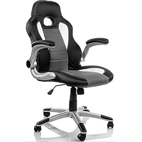 Eurosilla Gaming 1 - Silla de escritorio, 116 x 60 x 62 cm, color negro