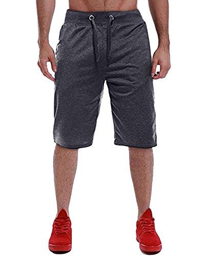 MODCHOK Herren Shorts Kurze Jogging-Hose Hosen Sportshorts Bermudas FreizeitShorts Kurzhose Freizeitshose Dunkelgrau 1