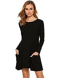 Amazon.es  vestidos largos casuales - ROMWE  Ropa 7d42967bfff4