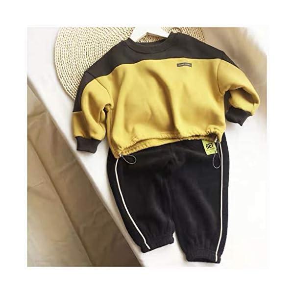 Tefamore Conjuntos Deportivos Ropa Bebé Niño Retazos Letra Camiseta Tops + Pantalones de Rayas Trajes 4
