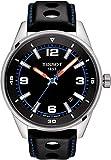 Tissot Herren-Uhren Analog Quarz One Size Leder 87847039