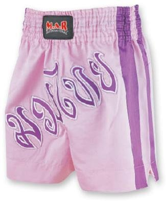 M.A.R International Ltd Kick Boxen & Thai Boxing Shorts Kickboxen Hose MMA Hose Boxen Kleidung Muay Thai K1 GEAR Polyester Satin Stoff Pink xl Rosa - rose -