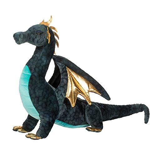 Cuddle Toys 2376 Aragon - Juguete de dragón Azul Marino, tamaño Grande