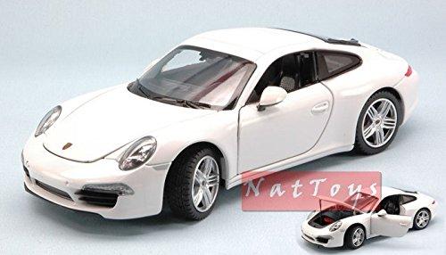 Rastar RAT56200 Porsche 911 3.8 Carrera S 2011 WHITE 1:24 MODELLINO DIE CAST