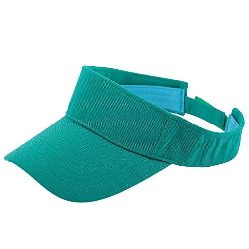 VRTUR Sommer Sunvisor Einheitsgröße Unisex Cap mit Klettverschluss Einstellbar Anti-UV für Reisen Radsport Golf Sport Sonnenschild Visier Kappe Grün - Custom Beanie Hüte