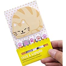 velidy Office Style Cute Animal Pattern Papier selbstklebend Notes Memo Pad Lesezeichen Marker Pad für Student Office Home katze
