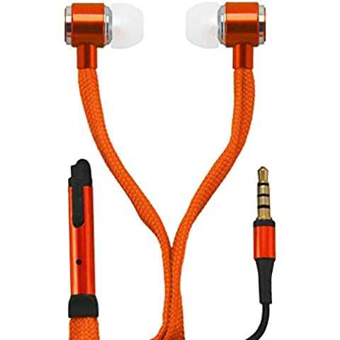 OKCS® auricular In-Ear Headset Earpod micrófono powerful bass cordón de los zapatos Design / control elemento por su iPhone, Sony, Samsung, LG, Huawei, HTC, etc. en naranja