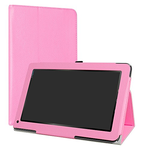 liushan PU Leder Slim Faltbar Stand Cover für 25,7 cm Trio Stealth G5 Android Tablet Rosa Rose