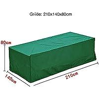 logei®Funda para Muebles de Jardín Funda Protectora para Mesas Impermeable,210x140x80cm,Color Verde Oscuro
