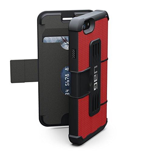 Urban Armor Gear Monarch Custodia per iPhone 7/6s Plus, Conforme agli Standard Militari Anticaduta, Magenta Rosso