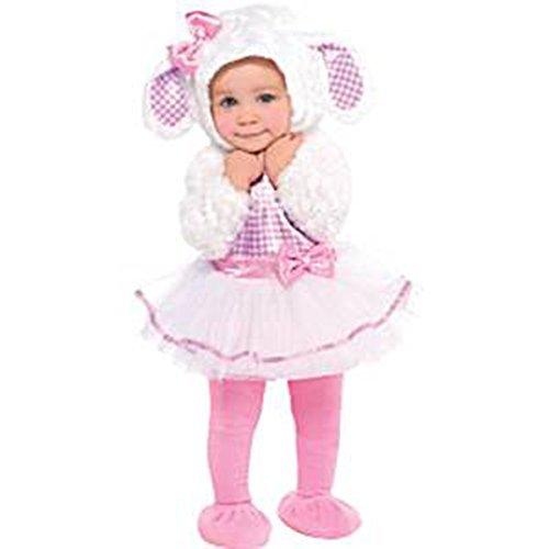 Little Lamb Babys Girls Fancy Dress Up Costumes Halloween Birthdays Animal Infants New Fun {6-12 Months} by Amscan (Kostüm Lamb Kleinkind)