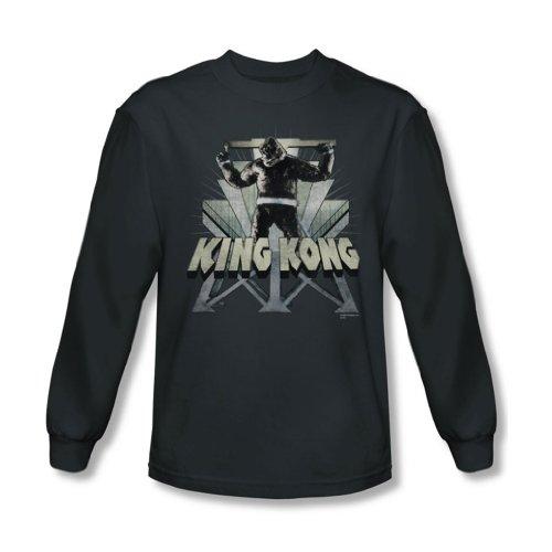 King Kong, 8Th Wonder-Maglietta a maniche lunghe, In latta, colore: carbone grigio Large