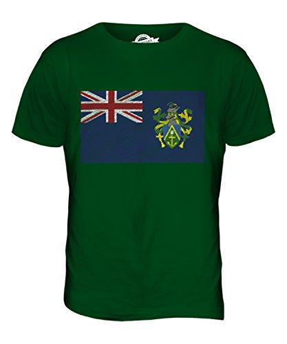 CandyMix Pitcairninseln Kritzelte Flagge Herren T Shirt Flaschengrün